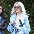 Exclusif - Khloe Kardashian arrive à un déjeuner à l'hôtel Bel Air à Beverly Hills. Los Angeles, le 6 janvier 2019.
