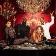 Kim Kardashian, Kanye West, Chrissy Teigen et John Legend - Soirée d'anniversaire de John Legend (40 ans) à Beverly Hills. Le 12 janvier 2019.
