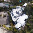 Exclusif - Vue aérienne de la maison de Chrissy Teigen et John Legend, à l'heure des préparatifs de la fête du 40ème anniversaire de John. Los Angeles, le 12 janvier 2019.