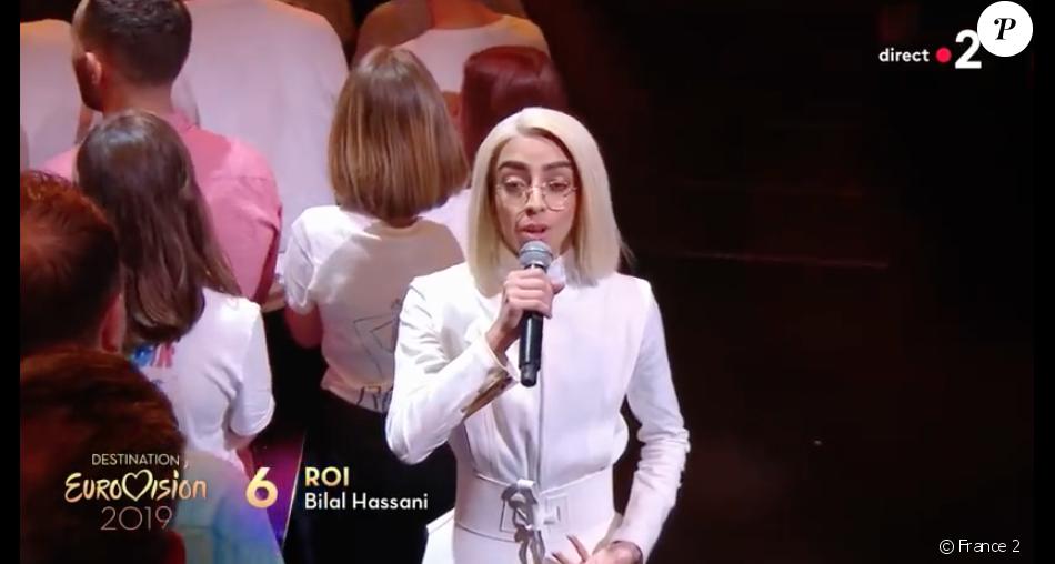 """Bilal Hassani qualifié lors de la première demi-finale de """"Destination Eurovision"""" diffusée le 12 janvier 2019 sur France 2."""