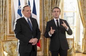 Brigitte et Emmanuel Macron inaugurent les nouveaux salons de l'Élysée