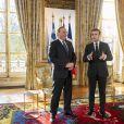 Le président Emmanuel Macron reçoit François Legault, nouveau Premier ministre du Québec, au palais de l'Elysée à Paris le 21 janvier 2019. Gilles Rolle / Pool / Bestimage