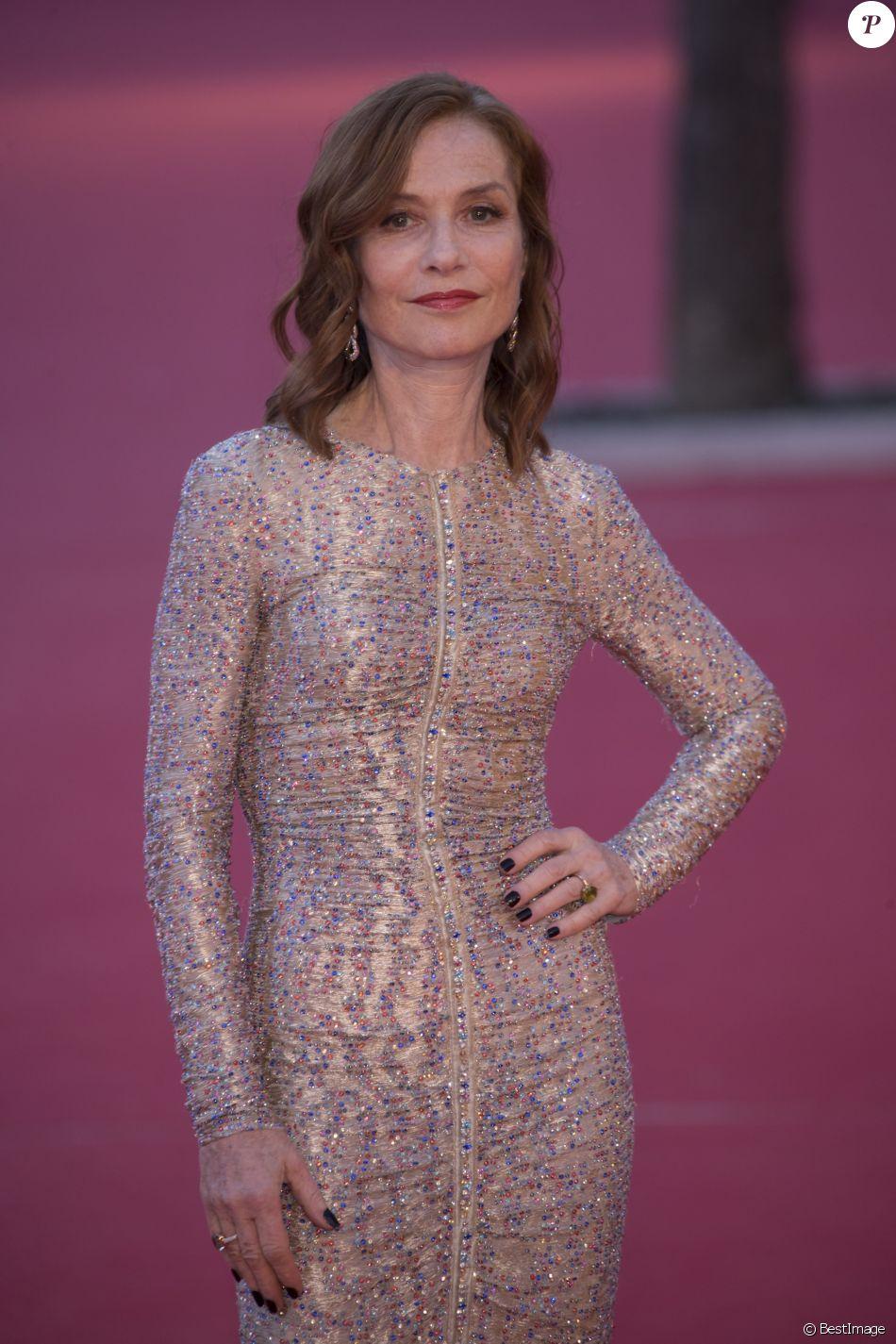 Première avec Isabelle Huppert lors du 13ème Festival du Film de Rome, le 20 octobre 2018.
