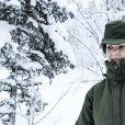 La princesse Victoria de Suède en visite dans un bataillon de chasseurs et une unité hivernale de l'armée à Arvidsjaur, en Laponie, le 23 janvier 2019 par -26°C.
