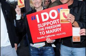 Drew Barrymore : elle défile dans la rue avec ses amis stars et people... pour défendre le mariage gay !