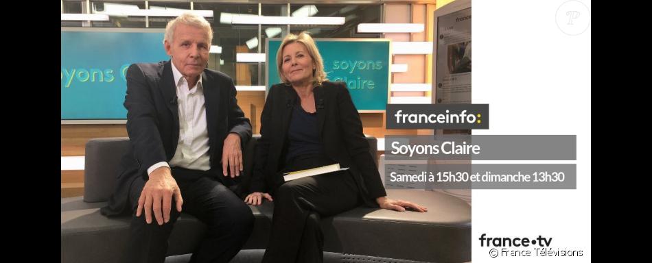Patrick Poivre d'Arvor et Claire Chazal réunis sur FranceInfo, janvier 2019.