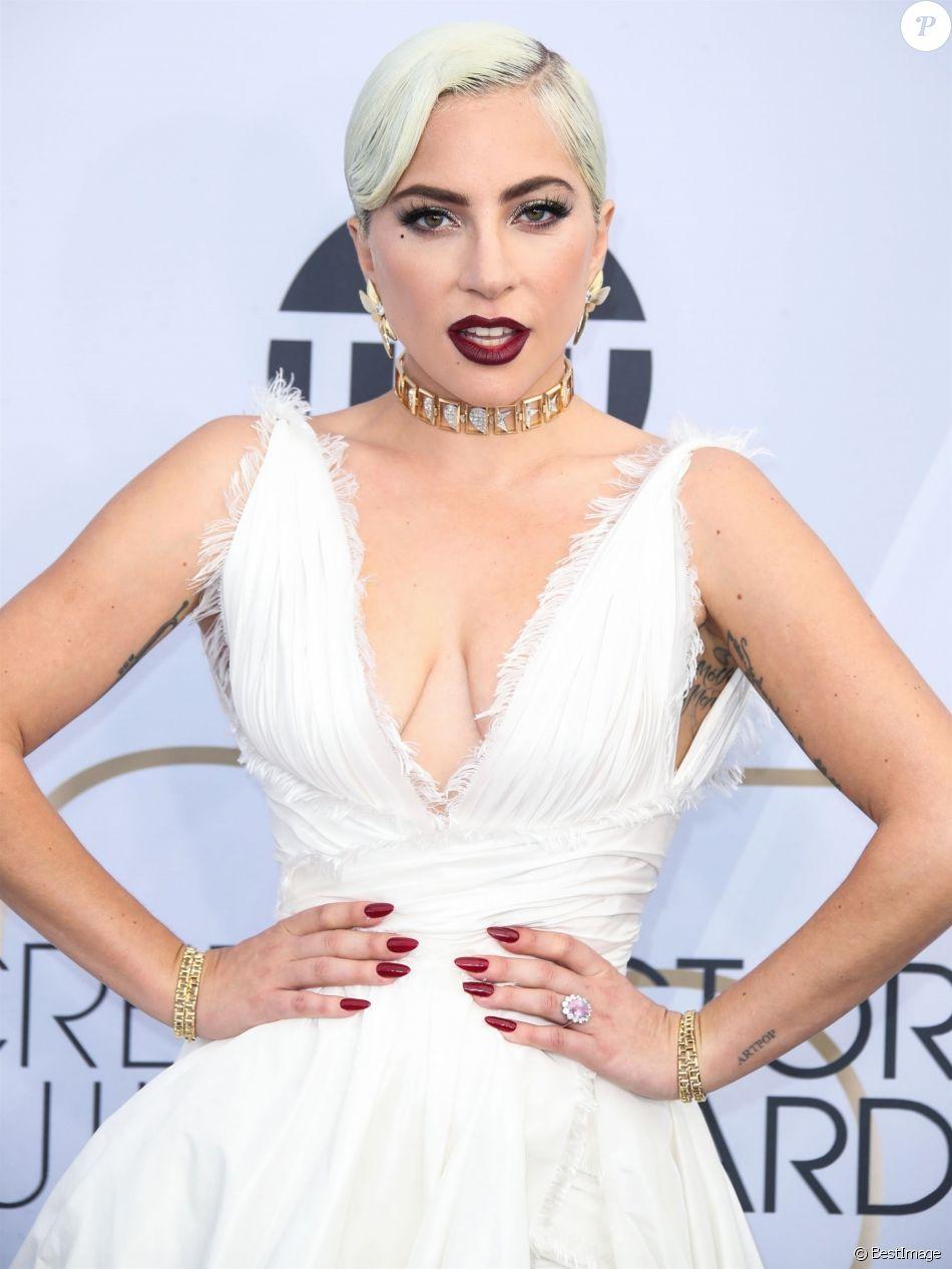 Lady Gaga - 25e cérémonie annuelle des Screen Actors Guild Awards au Shrine Audritorium à Los Angeles, le 27 janvier 2019.