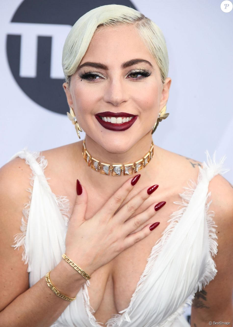 Lady Gaga - 25e cérémonie annuelle des Screen Actors Guild Awards au Shrine Audritorium à Los Angeles, le 27 janvier 2019.