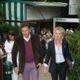 Sophie Davant et Pierre Sled à Roland-Garros. 28/05/09