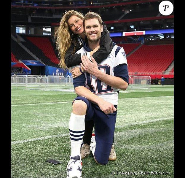 Gisele Bündchen et Tom Brady à la veille du Super Bowl LIII. Atlanta, le 2 février 2019.