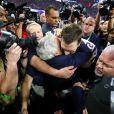 Tom Brady fête la victoire des New England Patriots au Super Bowl LIII à Atlanta. Le 3 février 2019.