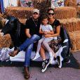 Caleb Followill, Lily Aldridge et leur fille Dixie. Août 2018.
