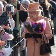 La reine Elisabeth II d'Angleterre se rend à la messe à West Newton le 3 février, 2019.
