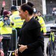 Meghan Markle, enceinte, duchesse de Sussex, arrive à l'Université de Londres pour rencontrer des membres de l'Association des Universités du Commonwealth (ACU) le 31 janvier 2019.