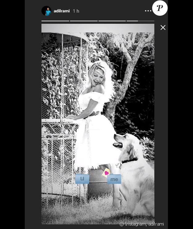 Adil Rami publie une photo de Pamela Anderson dans ses stories Instagram le 5 février 2019.