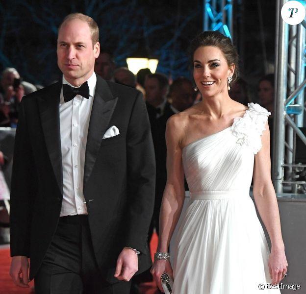 Le prince William et Catherine Kate Middleton, la duchesse de Cambridge arrivent à la 72ème cérémonie annuelle des BAFTA Awards au Royal Albert Hall à Londres, le 10 février 2019.