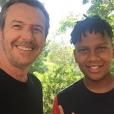 Jean-Luc Reichmann et Gabriel (Kids united) - Instagram, 19 juin 2018