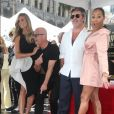 Heidi Klum, Howie Mandel, Simon Cowell, Mel B (Melanie Brown) - Simon Cowell reçoit son étoile sur le Walk Of Fame à Hollywood, le 22 août 2018