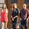 Heidi Klum, Tyra Banks, Howie Mandel, Simon Cowell - Le jury de 'America's Got Talent' en pleine tournage à Los Angeles, le 25 mars 2018