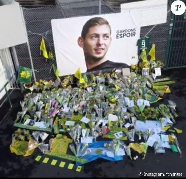 Le club du FC Nantes rend hommage à Emiliano Sala sur Instagram après sa disparition. Janvier 2019.