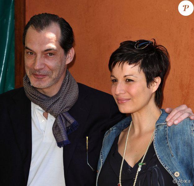 Hélène Médigue et Samuel Labarthe à Roland Garros, le 30/05/09