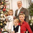 Exclusif - Le prince Albert II de Monaco avec la princesse Charlène de Monaco et leurs enfants le prince Jacques de Monaco et la princesse Gabriella de Monaco - Carte de voeux 2019 de la famille princière de Monaco. © Palais Princier Monaco via Bestimage
