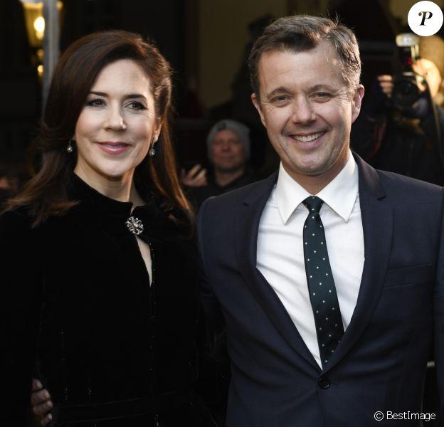La princesse Mary et le prince Frederik de Danemark le 20 février 2019 au palais de Fredensborg pour un concert commémorant le premier anniversaire de la mort du prince Henrik.