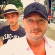 Cauet et son fils Valmont le 23 février 2019.