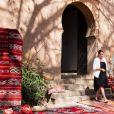 Le prince Harry, duc de Sussex, et Meghan Markle (enceinte), duchesse de Sussex, en visite aux Jardins andalous à Rabat lors de leur voyage officiel au Maroc, le 25 février 2019.