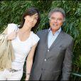 Alain Afflelou et Christine Couland au Tournoi de Roland Garros le mardi 2 juin 2009