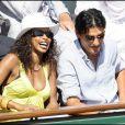 Laura Flessel et son mari au Tournoi de Roland Garros le mardi 2 juin 2009