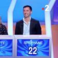 """Nagui face à Stéphane dans """"Tout le monde veut prendre sa place"""" sur France 2, le 24 février 2019."""