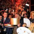 "Semi-exclusif - Satya Oblette et Kenzo Takada pendant la soirée ""Kenzo Takada's Birthday Night"" pour fêter les 80 ans de Kenzo Takada au Pavillon Ledoyen à Paris, France, le 28 février 2019. © Philippe Baldini/Bestimage Semi-Exclusive - Celebs attending the 80th Kenzo Takada Birthday Party at Pavillon Ledoyen in Paris, France on February 28, 2019.28/02/2019 - Paris"