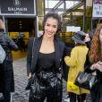 """Sabrina Ouazani à la sortie du défilé de mode prêt-à-porter autome-hiver 2019/2020 """" Balmain """" à Paris le 1er mars 2019. © CVS / Veeren / Bestimage"""