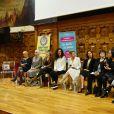 Laura Tenoudji, journaliste et chroniqueuse TV, anime un débat à Nice dans le cadre de la Journée Internationale des Droits des Femmes au Centre Universitaire Méditerranéen le 8 mars 2019. © Bruno Bebert / Bestimage
