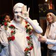 """Richard Cross à l'exposition """"Les Droits de l'Âme"""" de Valeria Attinelli à l'Espace Cardin avant-hier"""