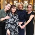 Brigitte Macron en compagnie de Sandrine Bonnaire, sa fille aînée Jeanne et sa soeur Sabine Bonnaire à l'Elysée, le 8 mars 2019.