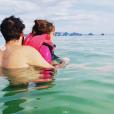 Les vacances de Laurent Ournac avec sa femme Ludivine et sa fille Capucine en ThaÏlande. Décembre 2018.