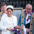 Meghan Markle, duchesse de Sussex, enceinte, - La famille royale et les invités sortent de l'abbaye de Westminster après la messe en l'honneur de la journée du Commonwealth à Londres le 11 mars 2019