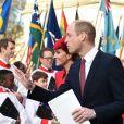 Le prince William, duc de Cambridge - Départ des participants à la messe en l'honneur de la journée du Commonwealth à l'abbaye de Westminster à Londres le 11 mars 2019.