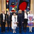 """Brigitte Macron reçoit les 5 lauréates du """"Prix international L'Oréal-Unesco pour les femmes et la science"""" au palais de l'Elysée à Paris le 11 mars 2019. © Eliot Blondet / Pool / Bestimage"""