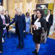"""Brigitte Macron reçoit les 5 lauréates du """"Prix international L'Oréal-Unesco pour les femmes et la science"""" au palais de l'Elysée à Paris le 11 mars 2019."""