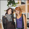 Zabou Breitman et Emilie Dequenne à l'inauguration de la boutique de vêtements LOFT Design By, rue Yvonne Le Tac, dans le 18ème arrondissement