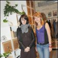 Zabou Breitman et Emilie Dequenne à l'inauguration de la boutique de vêtements LOFT, rue Yvonne Le Tac, dans le 18ème arrondissement