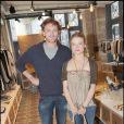 Mélanie Thierry et Jean-Paul Rouve à l'inauguration de la boutique de vêtements LOFT, rue Yvonne Le Tac, dans le 18ème arrondissement