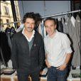 Pascal Elbé et Elie Semoun à l'inauguration de la boutique de vêtements, rue Yvonne Le Tac, dans le 18ème arrondissement