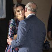 Letizia d'Espagne: En retard mais divine avec le prince Charles, très affectueux