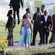 Exclusif - Kim Kardashian et Kanye West au mariage du rappeur Chance The Rapper et de sa compagne Kirsten Corley à Newport Beach. Le 9 mars 2019.