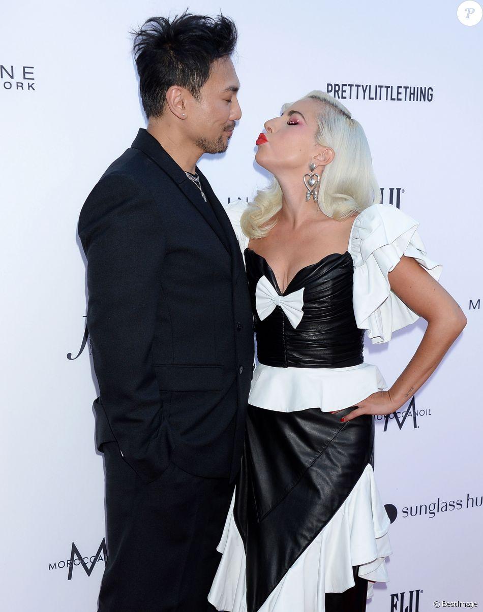 Lady Gaga, Fredric Aspiras à la soirée Fifth Annual Fashion à Beverly Hills, Los Angeles, le 17 mars 2019.