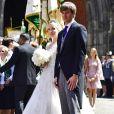 Le prince Ernst August de Hanovre lors de son mariage religieux avec Ekaterina Malysheva à l'église Markkirche à Hanovre, en Allemagne, le 8 juillet 2017.